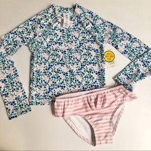 Tucker + Tate Rashguard Ruffe Swimsuit